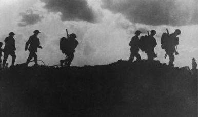 british-soldiers-silhouetted-along-a-ridge-during-the-world-war-i-532742